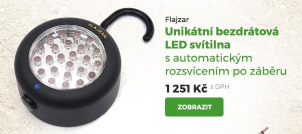 Flajzar bezdrátová LED svítilna