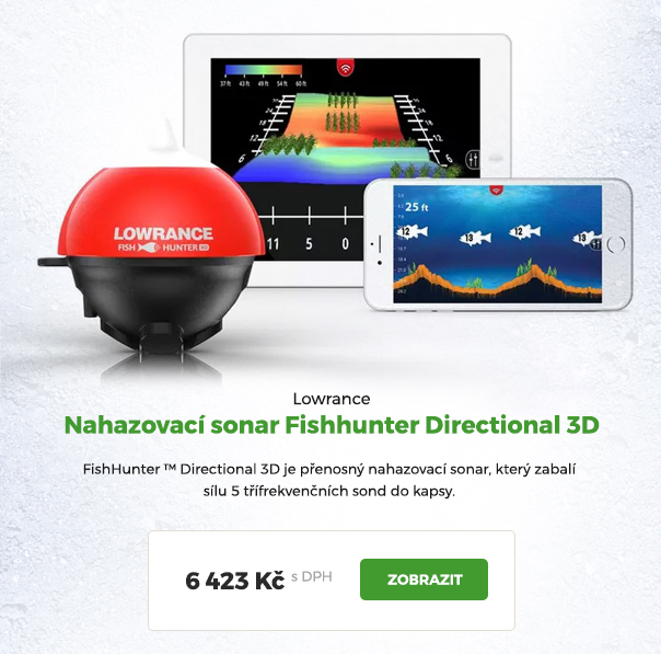 Nahazovací sonar Lowrance Fishunter Directional 3D