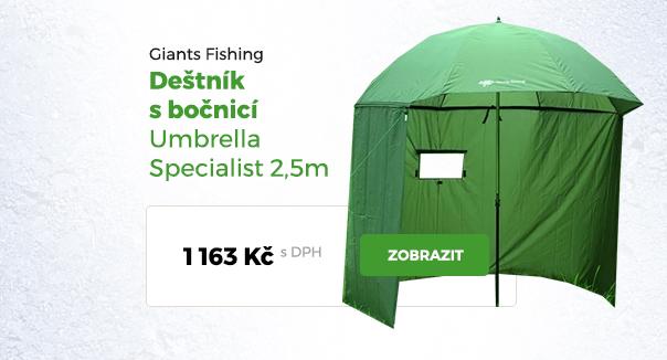 Deštník s bočnicí Giants Fishing