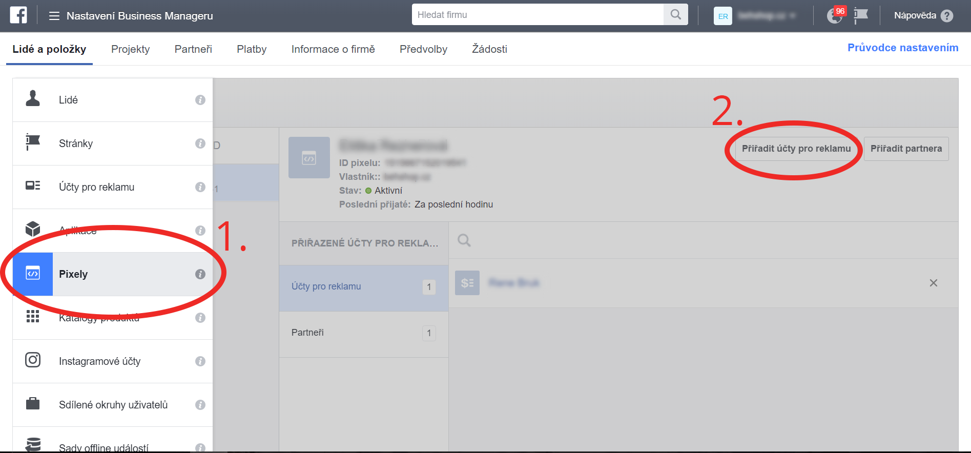 Propojení Facebook pixelu súčtem pro reklamu