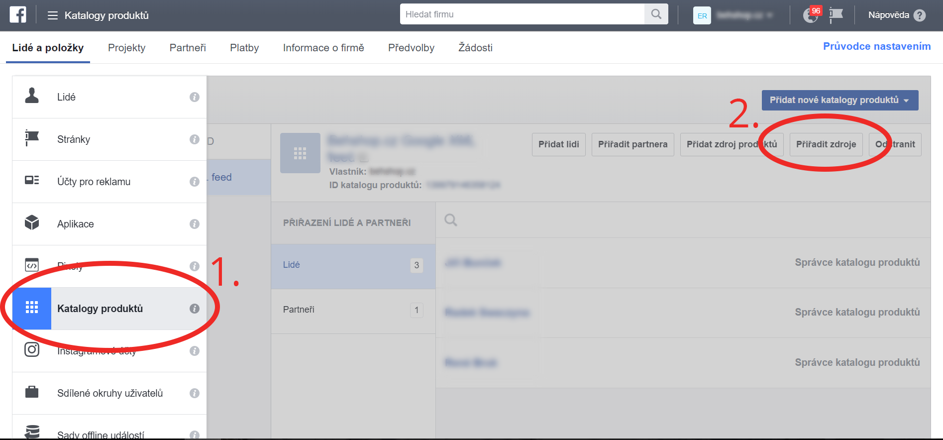 Propojení produktového katalogu sFacebook pixelem