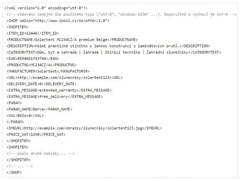 XML feed