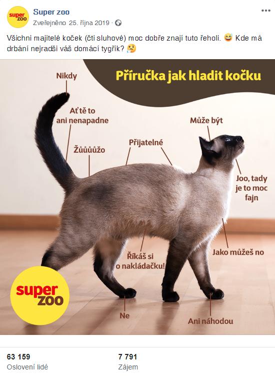 Úspěšný příspěvek na FB Super zoo